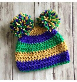 Mardi Gras Knit Caps