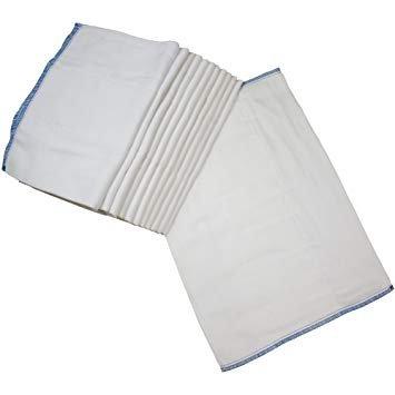 OsoCozy Bleached Cotton Prefold Infant (Blue Edge)