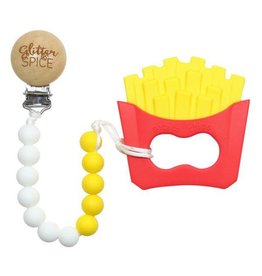 glitter and spice Glitter & Spice Silicone Clip On Teether - French Fry