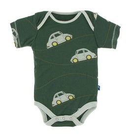KicKee Pants KicKee Pants Short Sleeve Onesie - Topiary Italian Car