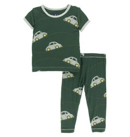 KicKee Pants KicKee Pants Short Sleeve Pajama Set - Topiary Italian Car