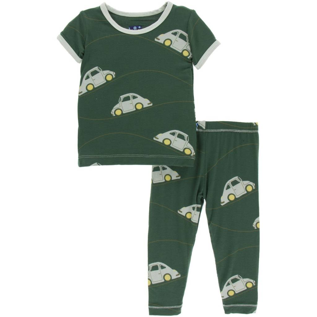 KicKee Pants KicKee Pants Short Sleeve Pajama Set - Topiary Italian Car (3T- last one!)