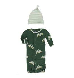 KicKee Pants KicKee Pants Converter Gown & Knot Hat Set - Topiary Italian Car