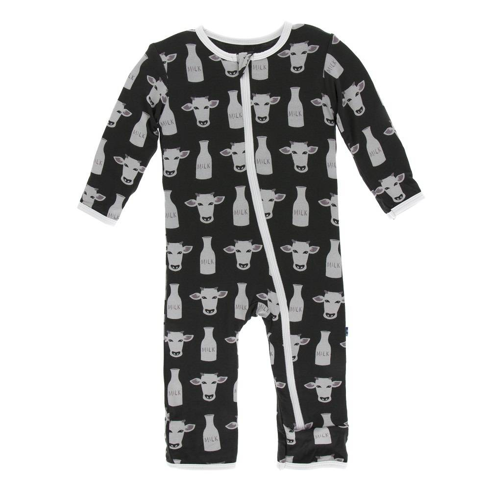 KicKee Pants KicKee Pants Coverall with Zipper - Zebra Tuscan Cow