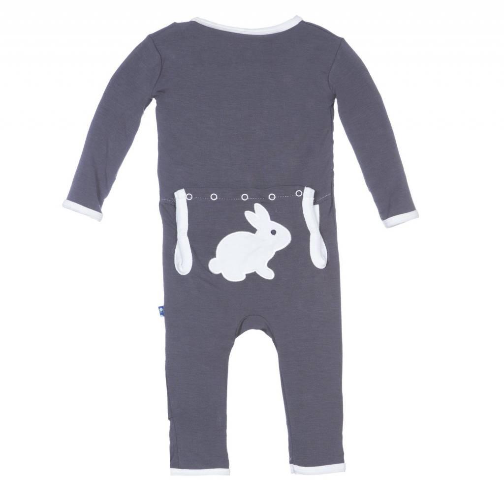 KicKee Pants Kickee Pants Holiday Coverall - Stone Bunny
