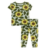 KicKee Pants KicKee Pants Short Sleeve Pajama Set - Aloe Sunflower