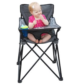 ciao! baby ciao! baby Portable Highchair in Black Check