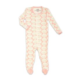 silkberry baby silkberry baby Bamboo Footed Sleeper w/ Zipper - Seashell