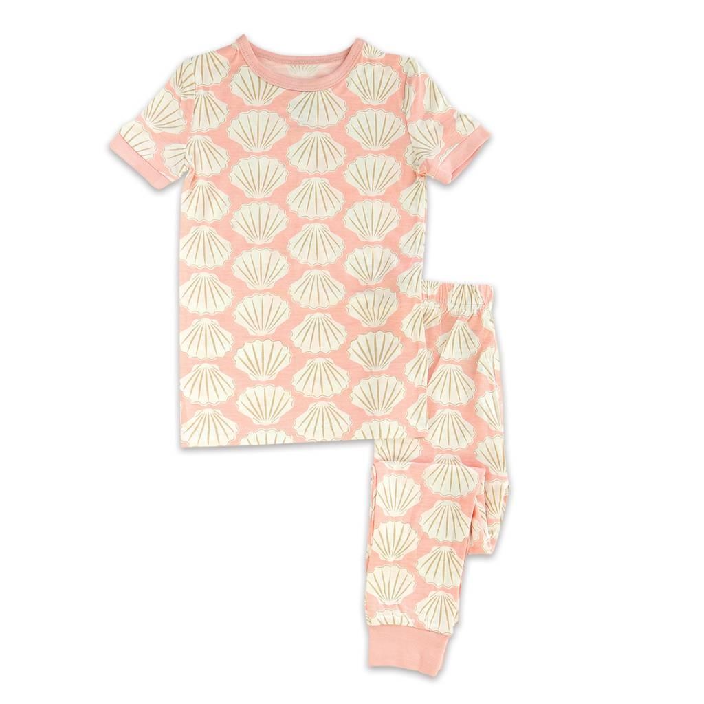 silkberry baby silkberry baby Bamboo Short Sleeve PJ Set - Seashell