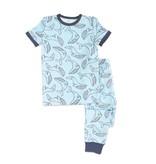 silkberry baby silkberry baby Bamboo Short Sleeve PJ Set - Whale