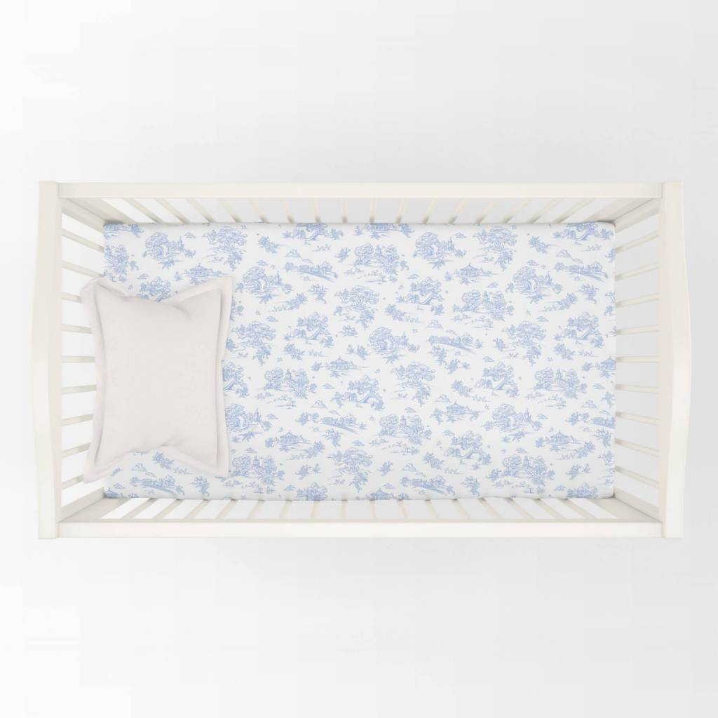Maison Nola Storyland Toile Crib Sheet
