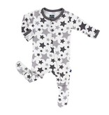 KicKee Pants KicKee Pants Essentials Print Footie - Feather/Rain Stars