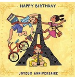 putumayo French Birthday Greeting Card