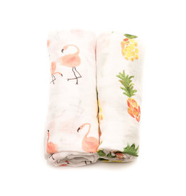 little unicorn Bamboo Muslin Swaddle Sets - 2pk