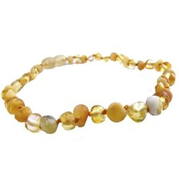 The Amber Monkey The Amber Monkey 12-13 in. Amber Teething Necklace - Screw Clasp
