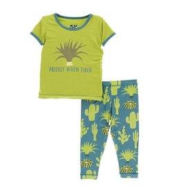 KicKee Pants KicKee Pants Short Sleeve Pajama Set - Seagrass Cactus