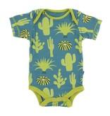 KicKee Pants KicKee Pants Short Sleeve Onesie - Seagrass Cactus