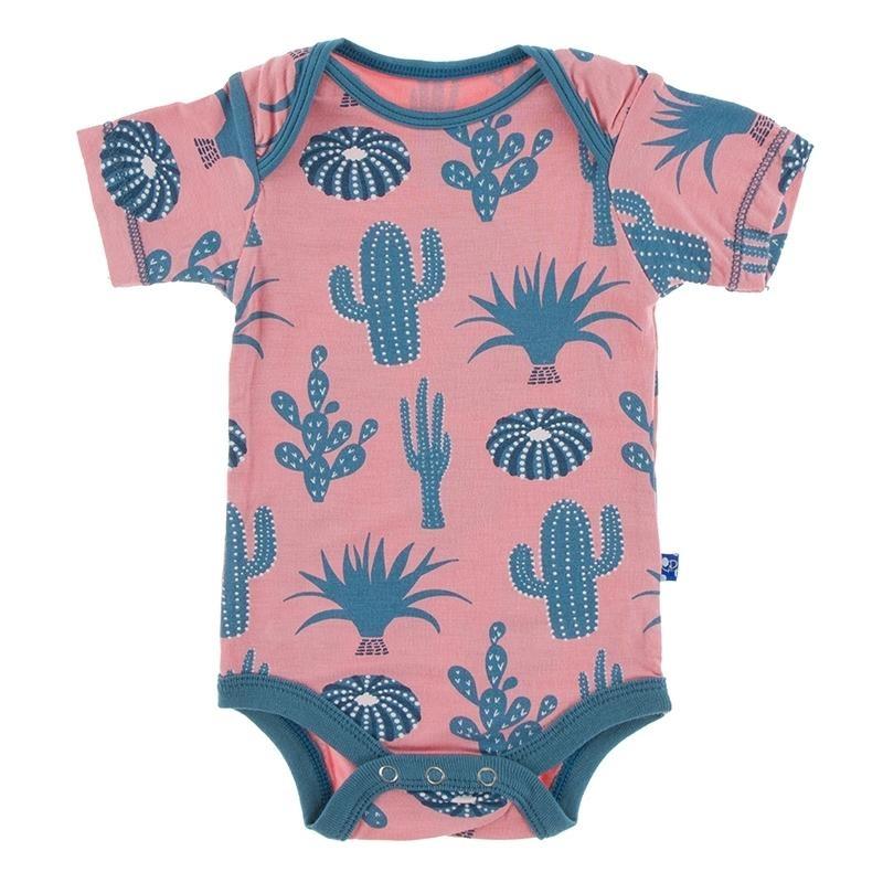 KicKee Pants KicKee Pants Short Sleeve Onesie - Strawberry Cactus