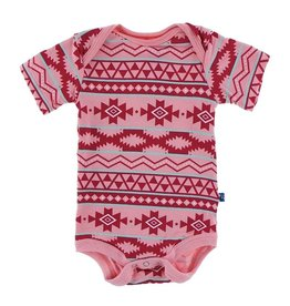 KicKee Pants KicKee Pants Short Sleeve Onesie - Strawberry Mayan Pattern