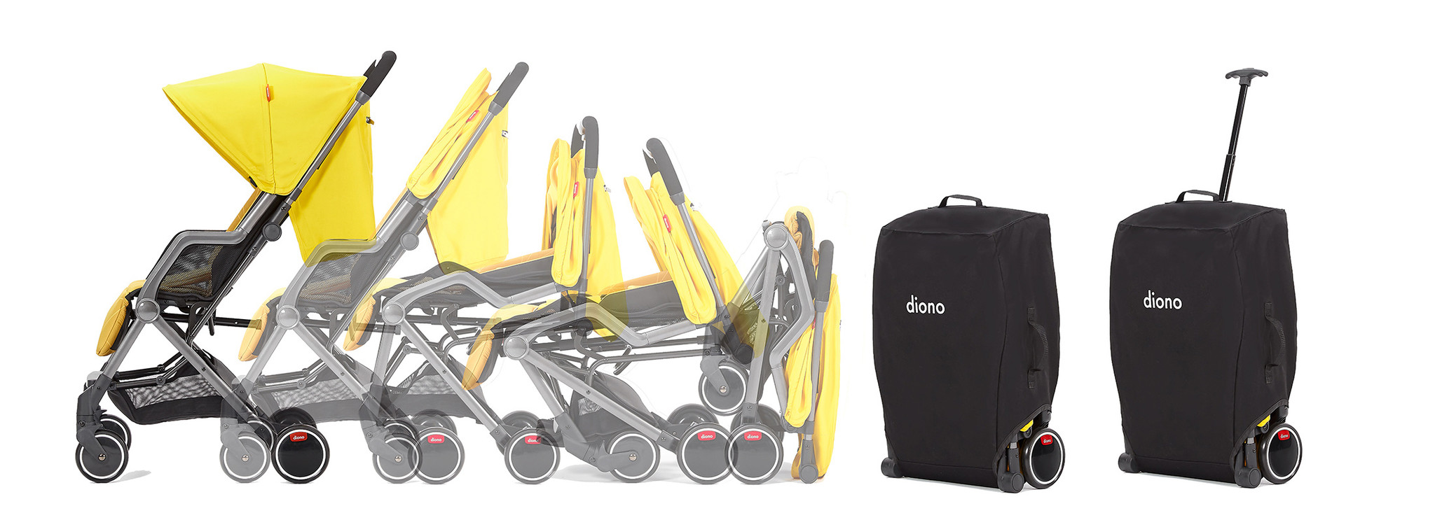 Diono Diono Traverze Luxe Stroller - Black/Gold Cube