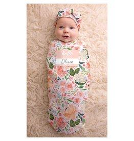 Itzy Ritzy Itzy Ritzy Cutie Cocoon Peach Floral 0-3m