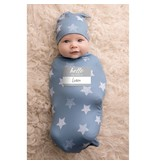 Itzy Ritzy Itzy Ritzy Cutie Cocoon Blue Stars and Hat Set 0-3m