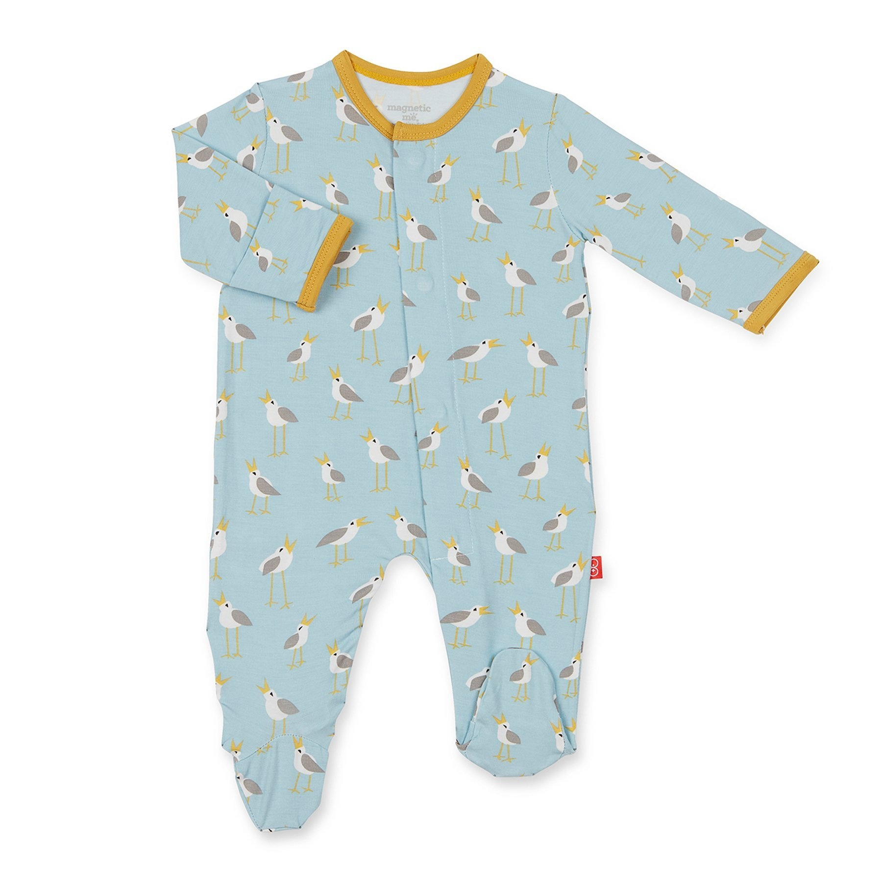 Magnetic Me Magnetic Me Modal Footie - Blue Plovers