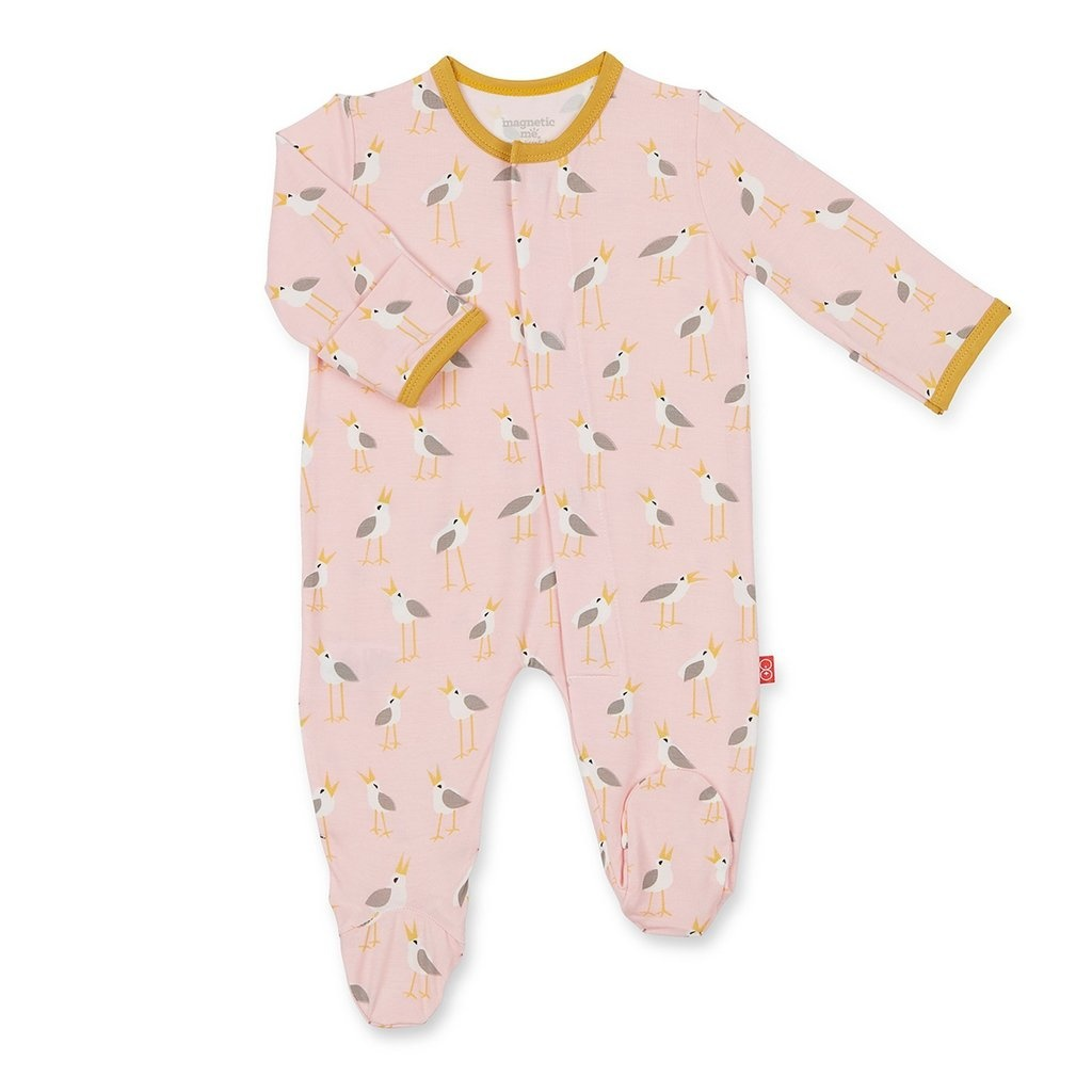 Magnetic Me Magnetic Me Modal Footie - Pink Plovers
