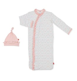 Magnetic Me Magnetic Me Modal Sack Gown + Hat - Carousel (NB-3m)