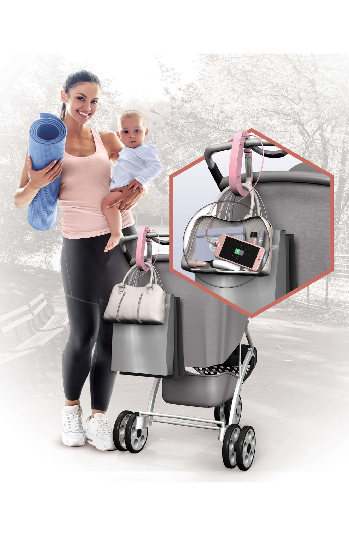 Mommy Power Mommy Power Stroller Hook & Charger