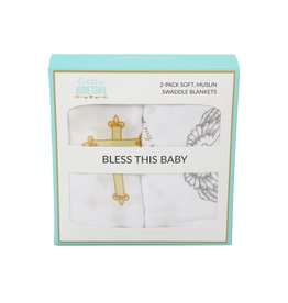 Little Hometown Little Hometown Swaddle Set - Bless This Baby