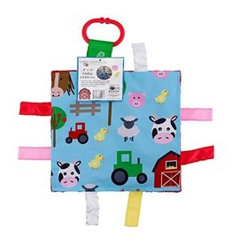 Baby Jack and Company Square Tag Crinkle Toy