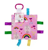 Baby Jack and Company Baby Sensory Crinkle Square Tag & Lovey Toy