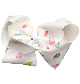 Nola Tawk Snowball Hair Bow Medium