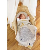 LASSIG Knitted Baby Blanket GOTS - Little Water Whale