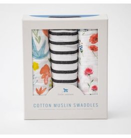 little unicorn Cotton Muslin Swaddle - 3 packs Wild Mum Set