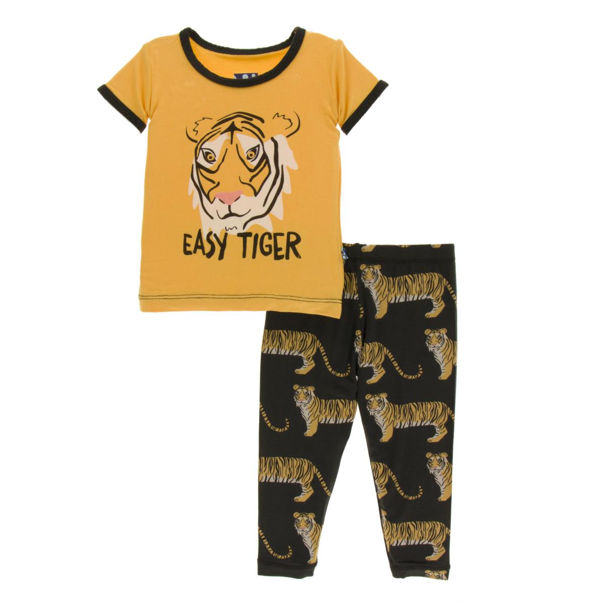 KicKee Pants KicKee Pants Short Sleeve Pajama Set - Zebra Tiger