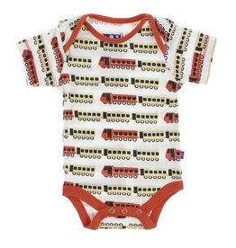 KicKee Pants KicKee Pants Short Sleeve Onesie - Natural Indian Train