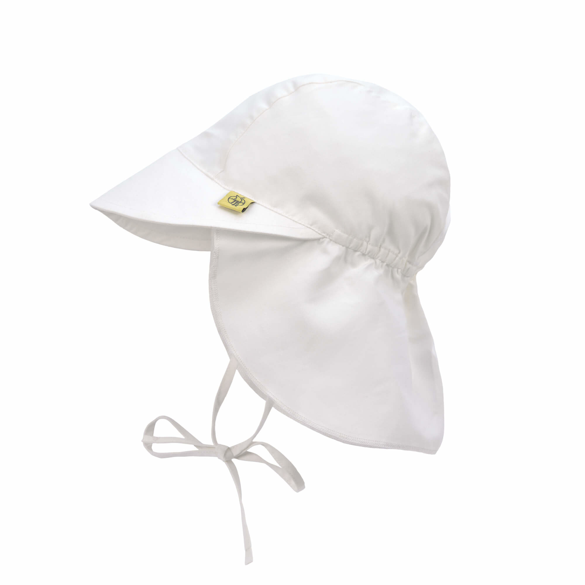LASSIG Sun Protection Flap Hat - White