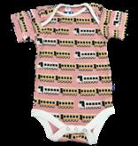 KicKee Pants KicKee Pants Short Sleeve Onesie - Desert Rose Indian Train