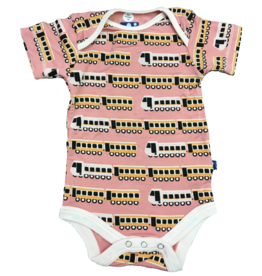 KicKee Pants KicKee Pants Short Sleeve Onesie - Desert Rose Indian Train