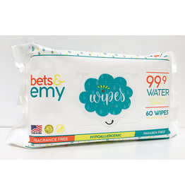 Bets & Emy Bets & Emy's Chemical-Free Baby Wipes - 60/ct