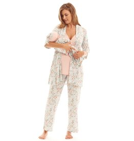 Everly Grey Everly Grey Analise 5-Piece Mom & Newborn Baby PJ Set - Cloud Blue