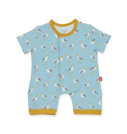 Magnetic Me Magnetic Me Modal Romper - Blue Plovers 6-9m