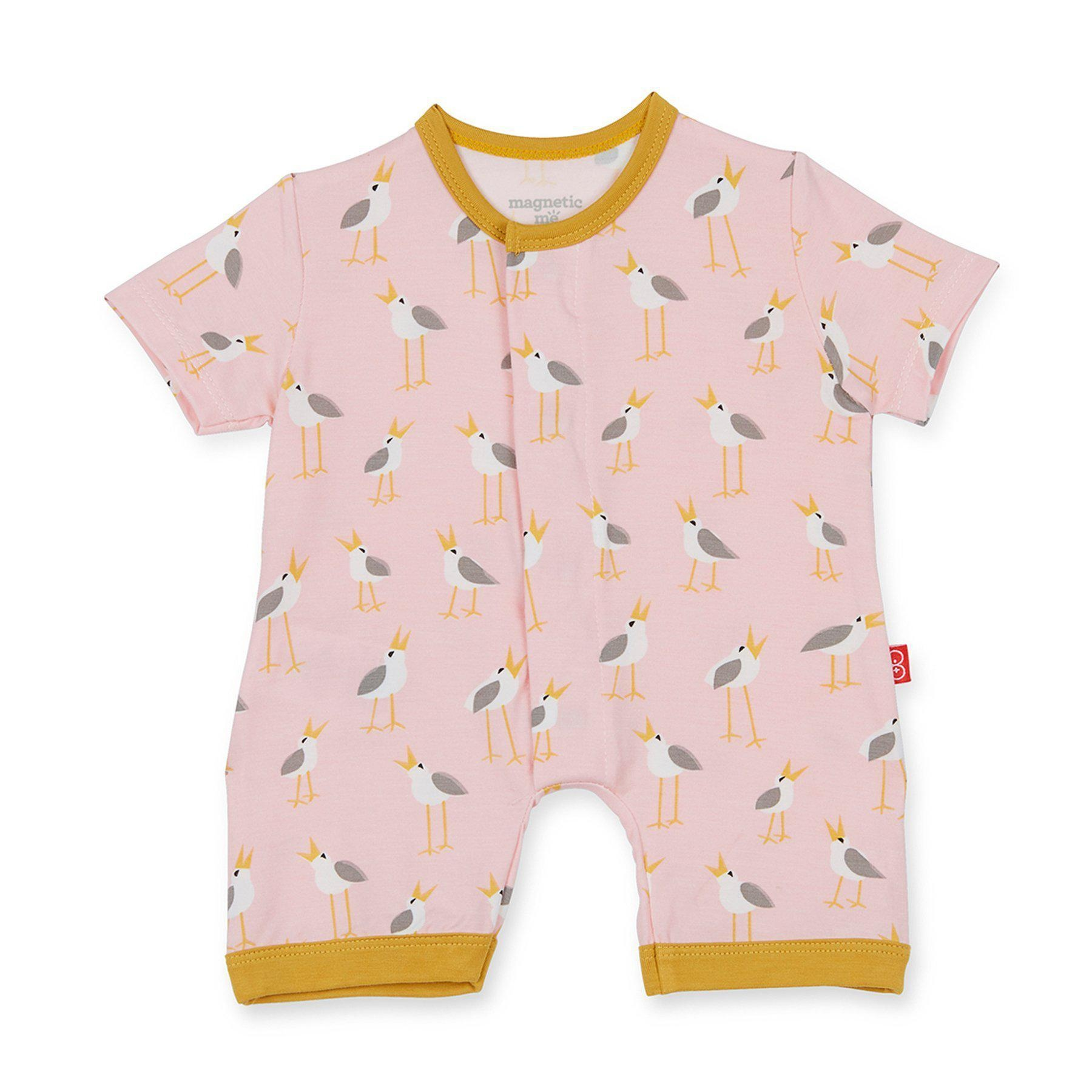 Magnetic Me Magnetic Me Modal Romper - Pink Plovers