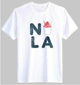 NOLA Snowball Toddler Tee White -