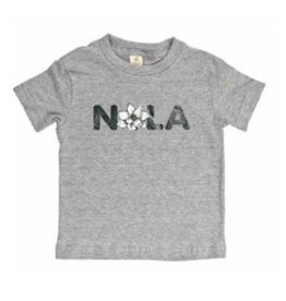 NOLA Magnolia Short Sleeve Toddler Tee Heather Grey -