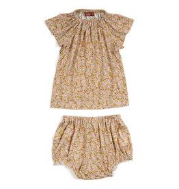 Milkbarn Milkbarn Bamboo Dress & Bloomer Set - Rose Floral