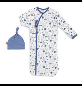 Magnetic Me Magnetic Me Modal Gown & Hat Set - Blue Skylark (NB-3M)