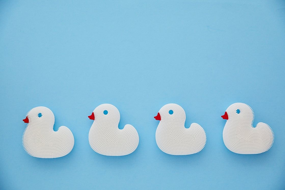 New People Duck Squigee Silicone Bath Brush
